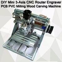 CNC 1610 GRBL управления Diy Мини 3 оси роторный ЧПУ Станок Гравер PCB ПВХ фрезерный станок резьба по дереву рабочая зона 16x10,5x3 см