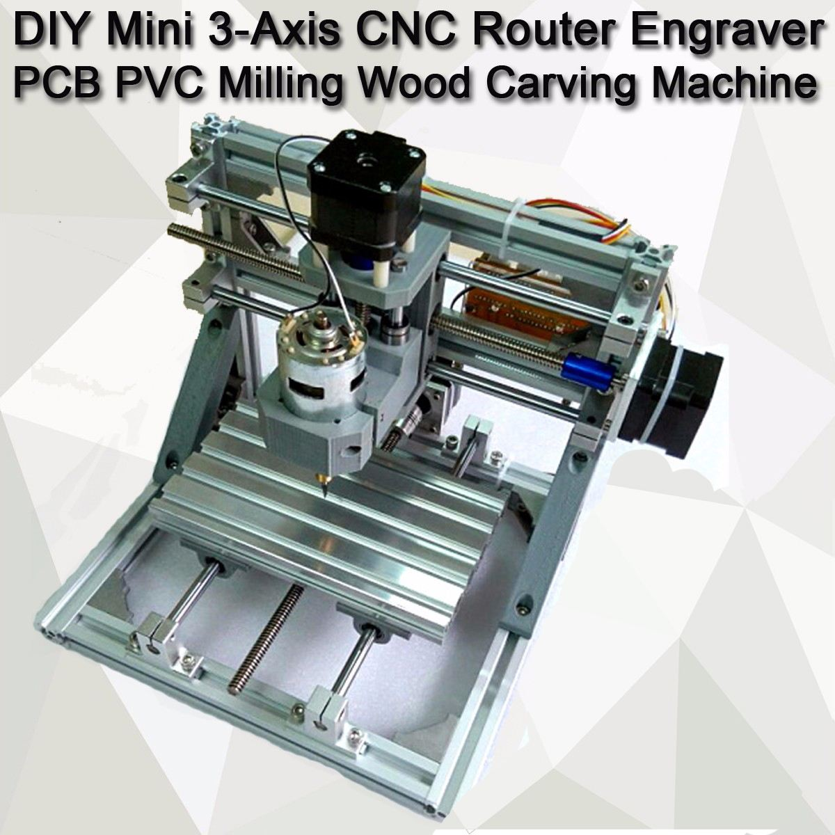 DIY Mini 3 Axis CNC Router Engraver PCB PVC Milling Wood Carving Machine DIY M cnc 5axis a aixs rotary axis t chuck type for cnc router cnc milling machine best quality
