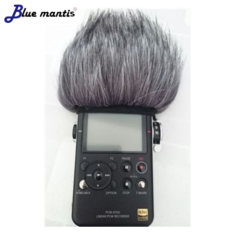 Deat cat Outdoor artificial fur windscreen for SONY PCM-D50 PCM-D100  high quality windshield Sony D100