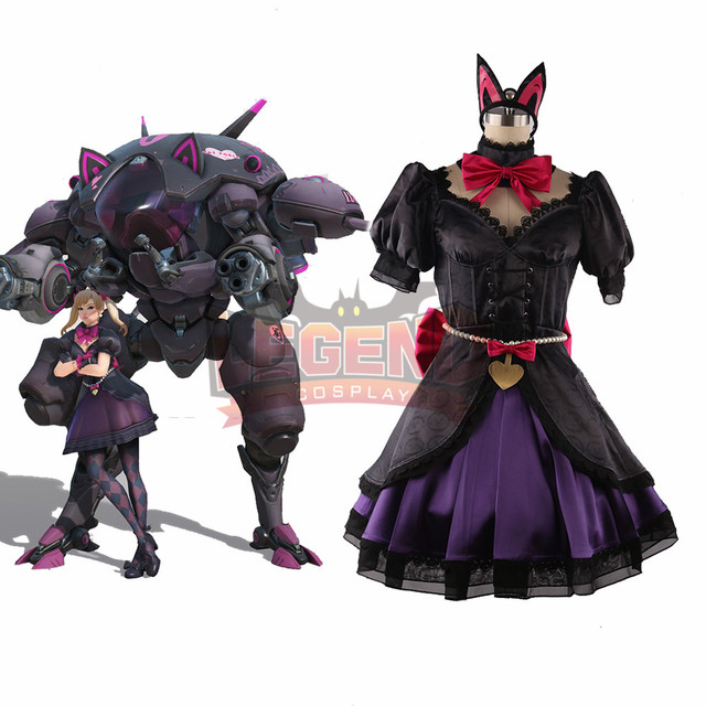 Dva Costume 2018 New Skin Black Cat Dva Lolita D Va