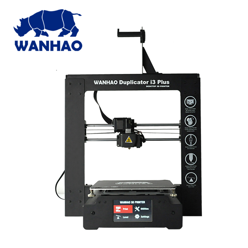 2018 WANHAO DIY FDM 3d printer I3 PLUS MARK II with Auto Leveling and resume printing offer testing filaments & 4 SG SD card цены