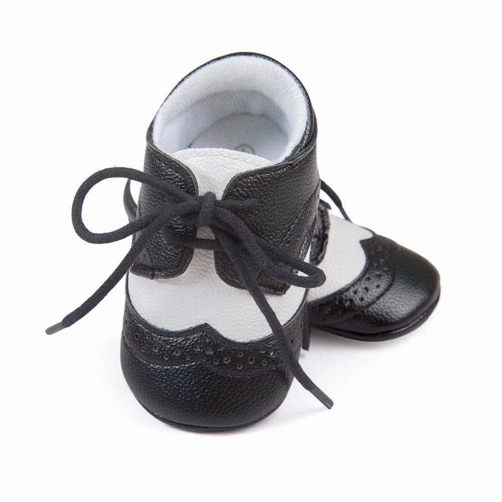 New Romirus Infant prewalkers shoes sneakers Baby Boy Hard Sole PU Leather First Walkers Crib non-slip baby Branded Shoes