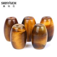 Wholesale Tiger Eye Brown Gold Natural Stone Rice Barrel Loose Beads For Jewelry Making DIY Bracelet