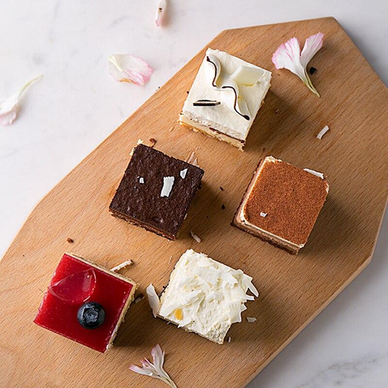 Япония стиль бука деревянные лотки для хранения неправильной формы торт/Десерты/сервировочный лоток для завтрака эко натуральный чай/кофе