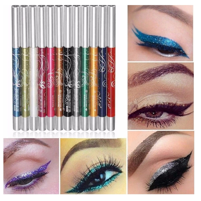 12pcs Eye Shadow Eyeliner Pen Set Long-lasting Shimmer Auto-rotate Ultra Bright Eyeshadow Lip Liner Eyeliner Pen Makeup Kit1