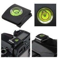 Zapata caliente antipolvo para cámara Canon Nikon Olympus SLR, cubierta de nivel de burbuja, 2 unids/lote