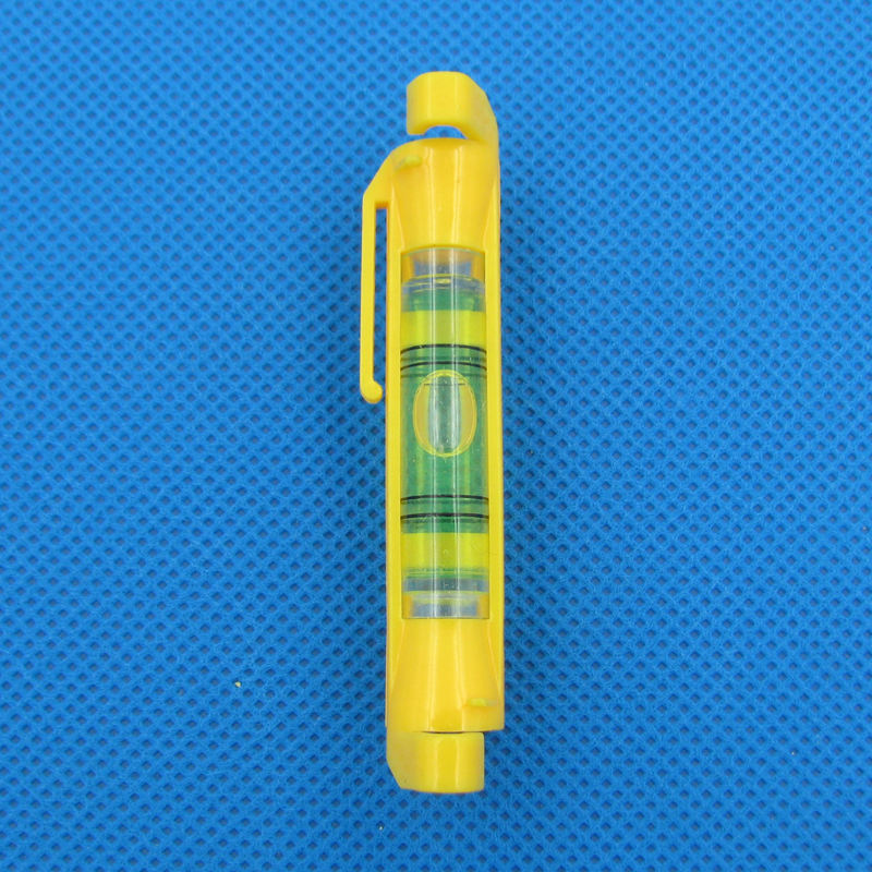 HACCURY 2016 Brand New Plastic Yellow Color Pen Level Photo Frame Level Tools Mini spirit level with Plastic cover