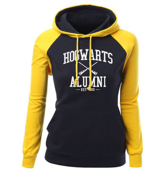 HOGWARTS ALUMNI Letter Print Women's Sweatshirt 2018 Autumn Winter Fleece Raglan Hoody Brand Clothing Fashion Pullover Harajuku 5