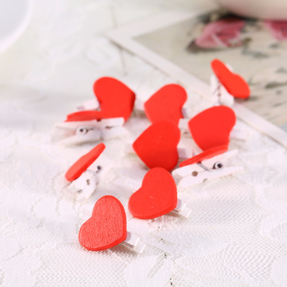Mini love heart wooden clips holders clothespin paper craft clips mini love heart wooden clips holders clothespin paper craft clips wooden letters for wedding decorations letras decorativas in figurines miniatures from jeuxipadfo Images