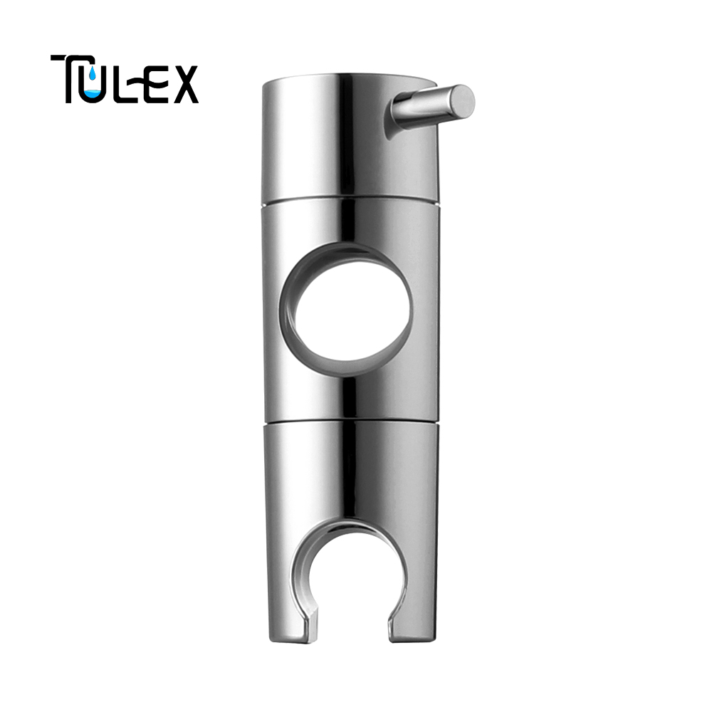 TULEX Hand Held Shower Head Holder for 19-25mm Slider Bar Height & Angle Adjustable Sprayer Holder Shower Rod Replacement