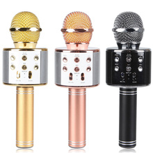 Karaoke Wireless Mini Portable Handheld Wireless Bluetooth Microphone Speaker Home Family KTV Support TF MP3 Play WS858 DVR8715