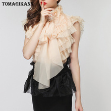 Summer Women Chiffon Blouse Shirt Sexy Transparent Ruffles Sleeveless Female Office Shirts Lady Blusa Outfits
