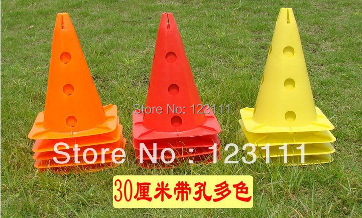 "12"" Soccer Football Cross Dog Horse Training Cones Track Sport Agility Marking Cone Drilled Coaching Aids skating,skateboard"