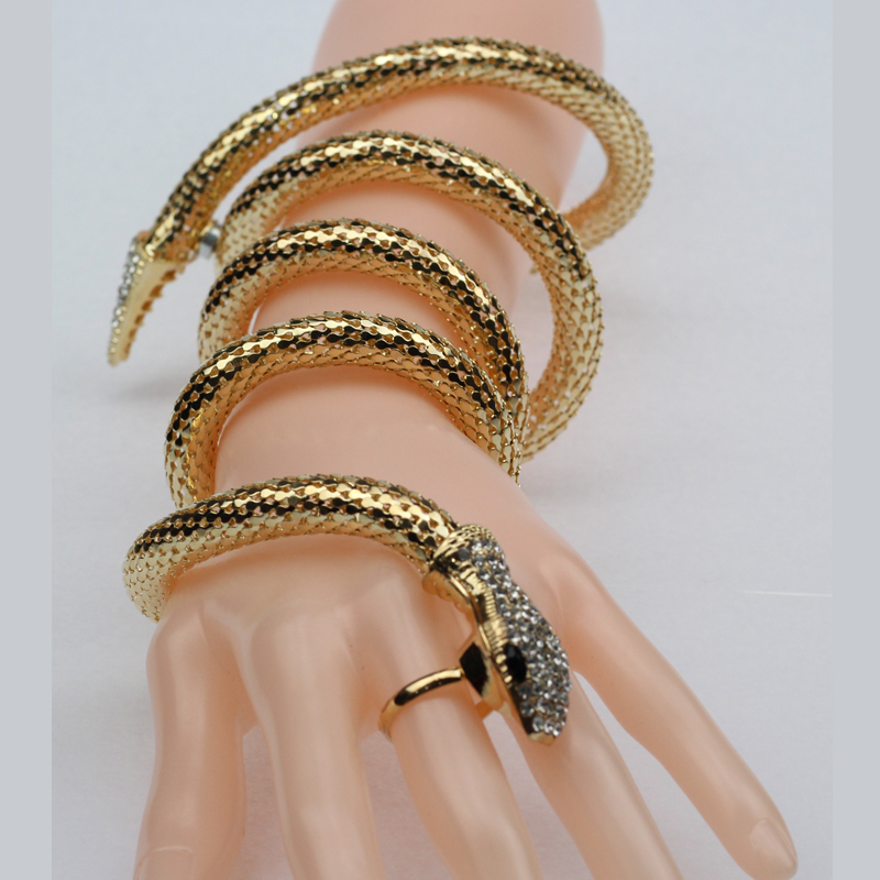 Fashion Cuff Bangle Women Armband Retro Snake Bracelet Vintage Punk