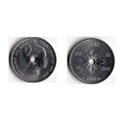 Laos 10 cent 1952 KM #4 münze, original münzen