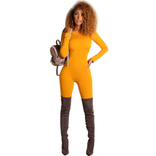 elegant jumpsuit female autumn and winter sexy tight bodysuit pants womens casual new