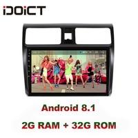 IDOICT Android 8.1 IPS 2G+32G Car DVD Player GPS Navigation Multimedia For Suzuki Swift radio 2008 2015 car stereo