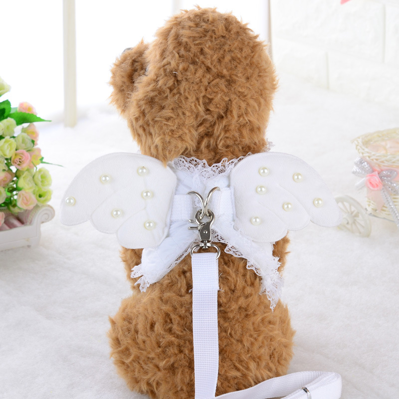 Bajila-Dog-chain-dog-breast-back-rope-pet-dog-rope-cute-lace-angel-pearl-wing-chest