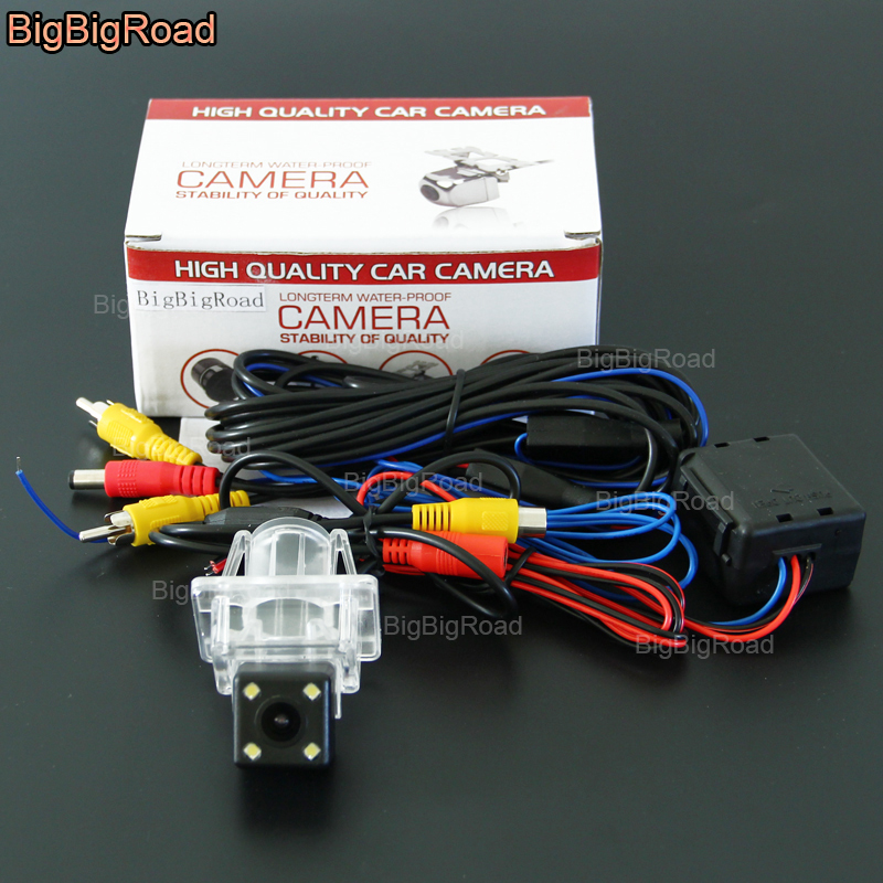 BigBigRoad Car Rear View Reverse CCD Camera With Filter For Mercedes Benz C Class W204 2007 2008 2009 2010 2011 2012 2013 2014