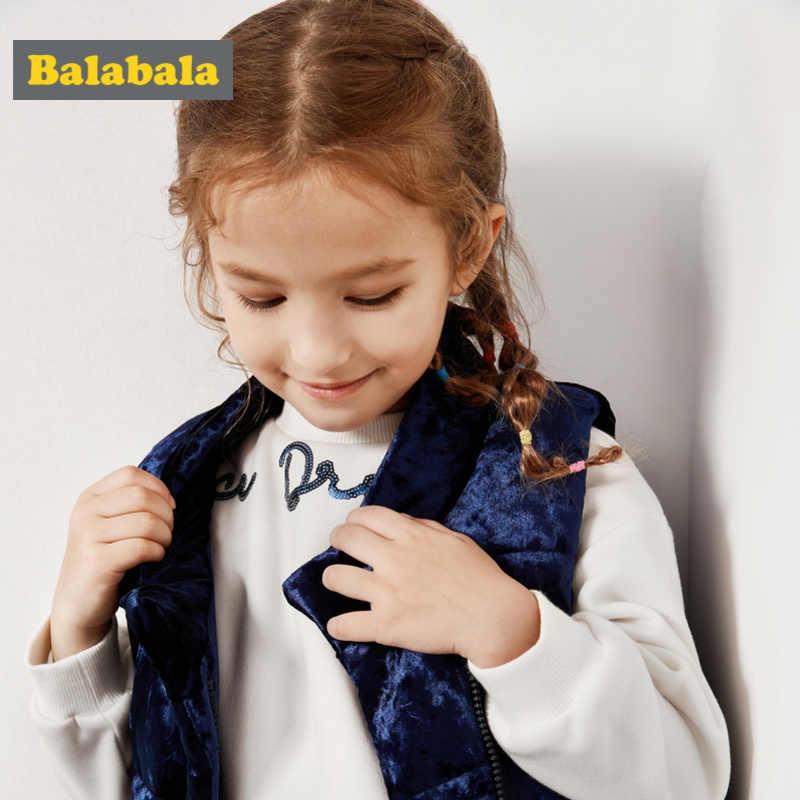 Balabala Peuter Meisje Gewatteerde Fluwelen Vest met Stand-up Kraag Kinderen Kid Puffer Vest met Ritssluiting in Silky polyester Gevoerd