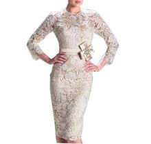 Spitze Kurze Abschlussball-kleider Party Kleid vestidos 2016 Neue Cocktailkleid robe Sommer Stil Frauen Tücher Mit Ärmeln Blume Taille