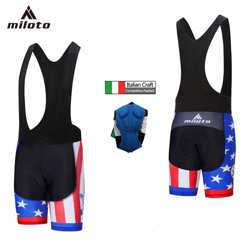 MILOTO Cycling bib Shorts Men Gel Padded Pro Team Cycling Clothing Summer Breathable Mtb Bicycle Cycling Shockproof Short Pants