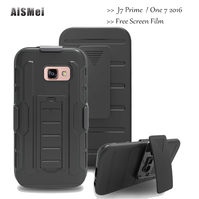AiSMei Ultra Armor Cover For Coque Samsung Galaxy J7 Prime G610F SM-G610F SM-G6100 / One 7 2016 Silicon Plastic Case Funda