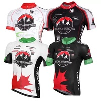 Summer Rocky Mountain White Red Black Team Cycling Tops Short Sleeve Cycling Jerseys Shirt Breathable Quick Dry Bike Wear