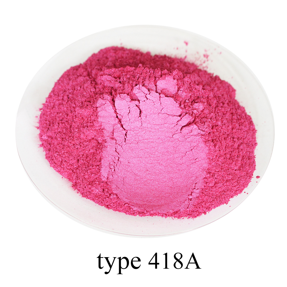 type 418A Super shiny pearl powder, colorful  nail, ink, toys, handicrafts, fishing rod dyeing, 50 grams per bag