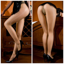 Extreme Thin Transparent Shiny Glossy Pantyhose Stocking T Crotch With Cotton Pad
