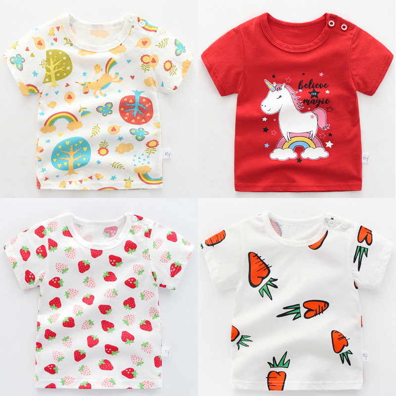 Unicorn Toddler Baby Kids Boy Girl Summer Tees Tops T-shirt Clothes Casual