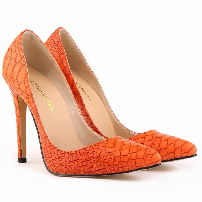 1e18e7d295fb5 Classique Sexy Bout Pointu Talons hauts Femmes Pompes Chaussures Faux  serpent Printemps Marque De Mariage Pompes Grande Taille 35-42 5 Couleur  302-1Snake