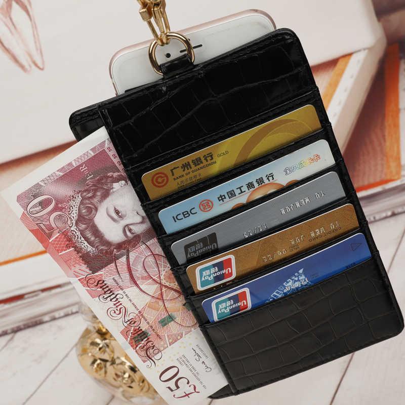 Wężowa skóra portfel mężczyzna duże złote torba na łańcuszku skórzana karta i etui na identyfikator dolar Bill portfel torebka z uchwytem użyj torba markowa
