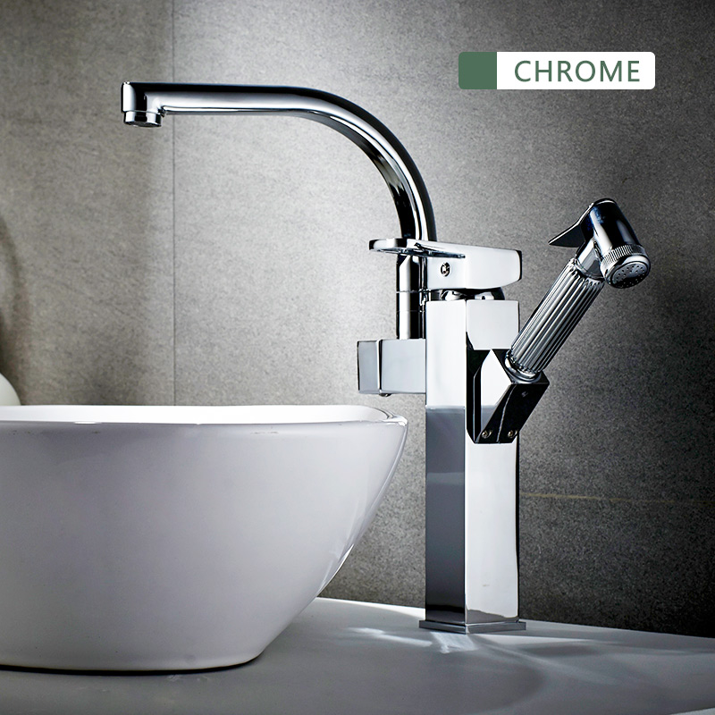 FLG kitchen Faucets Chrome rotatable kitchen pull out water mixer Faucets flexible kitchen water sink mixer tap armatur