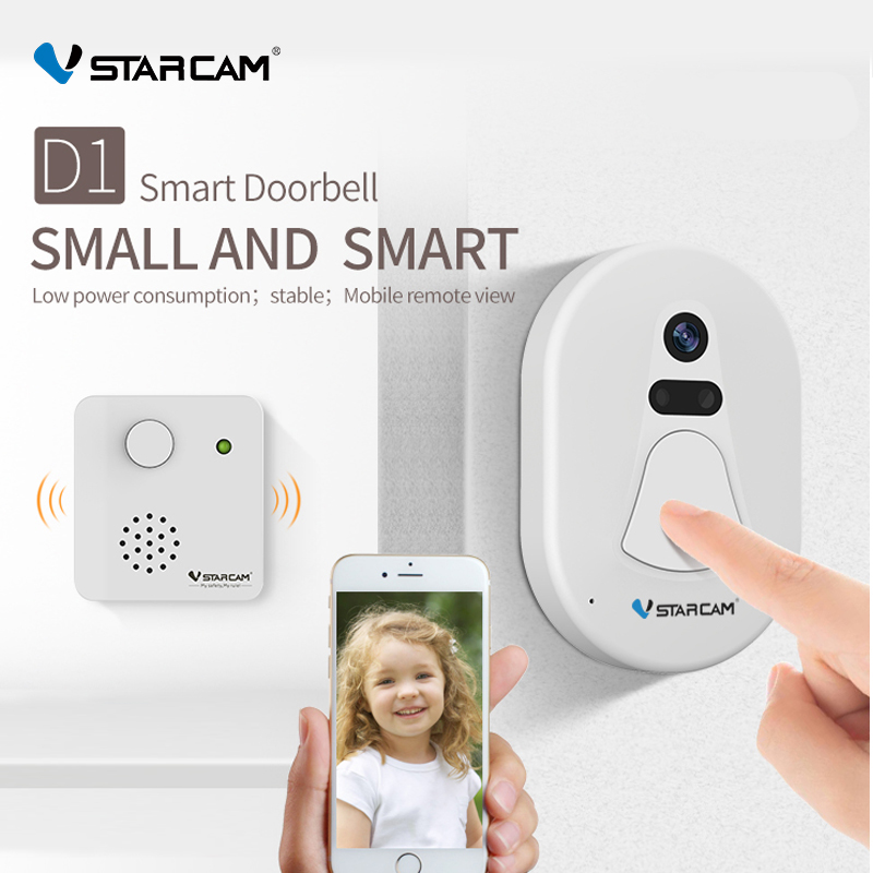 VStarcam Wireless Wifi Photo <font><b>Doorbell</b></font> Wifi Doorcam Wifi+RF Transmission IR Night Vision Phone APP <font><b>Remotely</b></font> View Auto Snapshot image