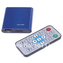 JEDX USB/SD MKV/RM/RMVB TV Box, Mini Full HD 1080 P Lecteur Multi-Media Player avec Télécommande AV/1080 P HDMI Sortie