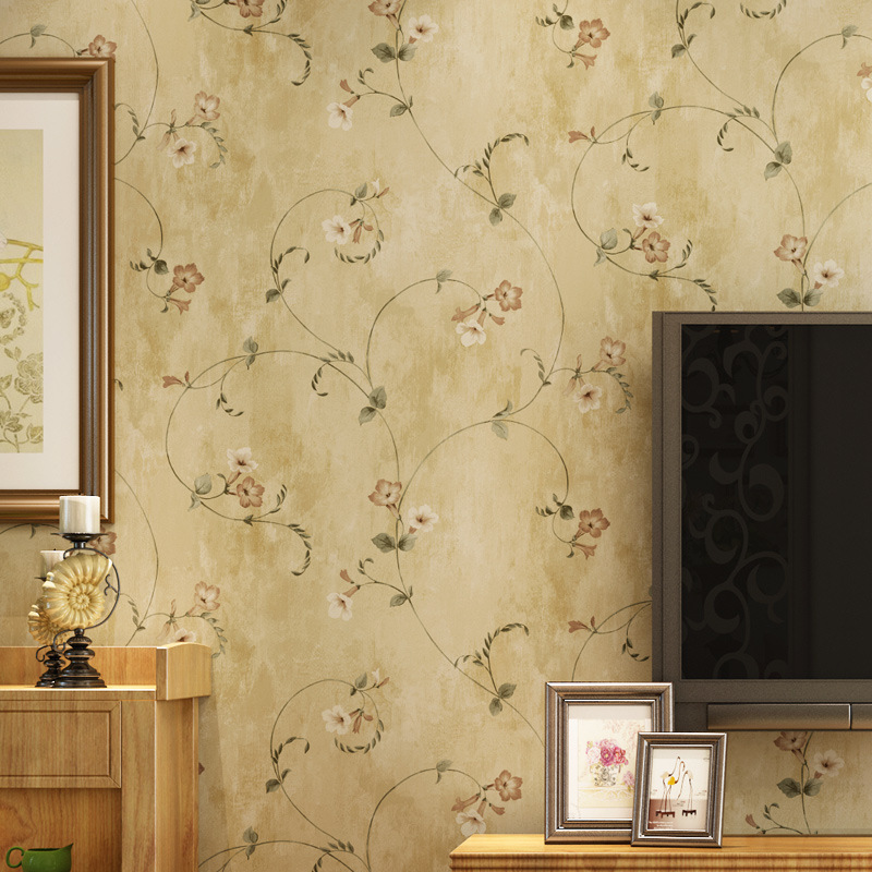 ФОТО beibehang papel de parede American rural countryside retro flower anyway bedroom living room wallpaper shop for TV backdrop