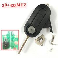 3 Knoppen Afstandsbediening Sleutel Voor Fiat Delphin PCF7946 Chip 433 MHZ