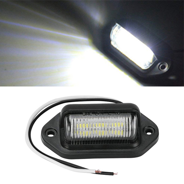 1pcs Car LED Daytime Running Fog Lights Waterproof Universal For Trucks SUV Trailers Vans Off-Road Vehicles License Plate Light