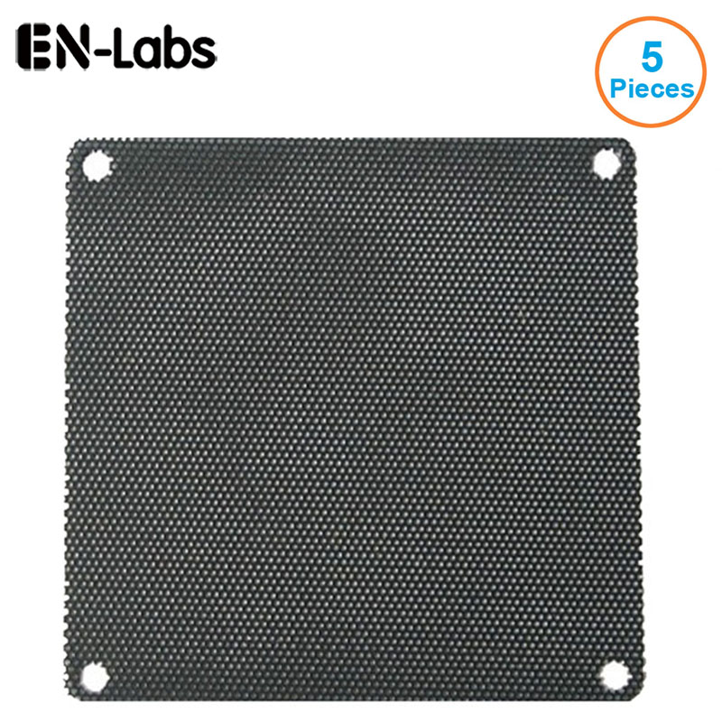 En-Labs 5pcs/lot 4CM/6CM/7CM/8CM/9CM/12CM/14 Computer Mesh Black PVC PC Case Fan Cooler Dust Filter Dustproof Case Cover