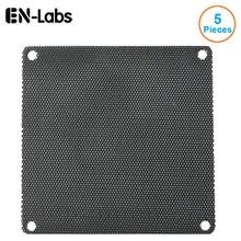 5pcs/lot 70CM Computer Mesh Black PVC PC Case Fan Cooler Dust Filter Dustproof Cover,70x70mm