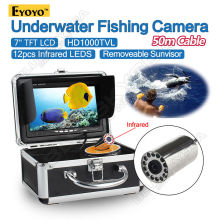 Free shipping!EYOYO 50M 7″ LCD Monitor HD 1000TVL Fish Finder Infrared Fishing Camera Upgraded