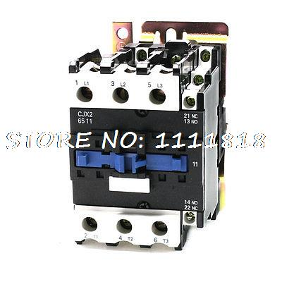 36V Rated Coil Voltage 3 Phase 1NO+1NC CJX2-6511 Alternating Current Contactor