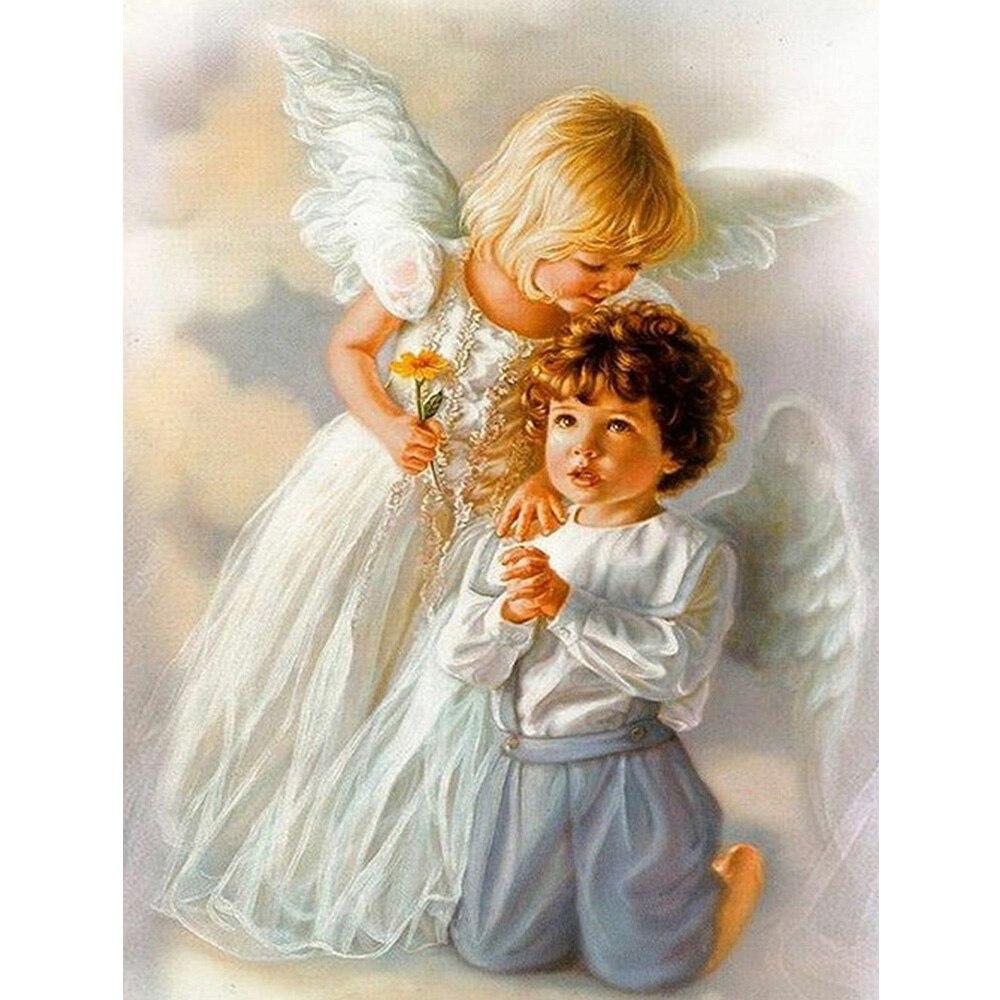 Прекрасные ангелы 5D полный квадратный алмаз живопись дома decorat рукоделие DIY Вышивка крестом Алмазная вышивка Фея Ангел ZS208