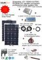 Solarparts 1x150W Professional DIY RV/Boat/ Kits Solar Home System 2x75W PV flexible solar panel MPPT controller Inverter LED