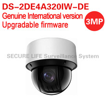 Free shipping English version DS-2DE4A320IW-DE 3MP network mini PTZ CCTV camera 4.7-94mm with 50m IR, 20X optical zoom