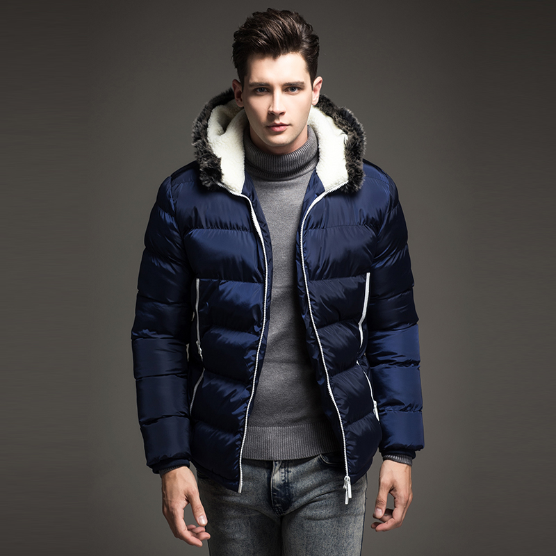 Free Shipping 2017 Contrast Color Mens Winter Jackets Men's Parka ...