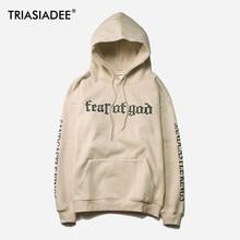 TRIASIADEE Mens Fear OF God Hoodie Sweatshirt Justin Bieber Kanye