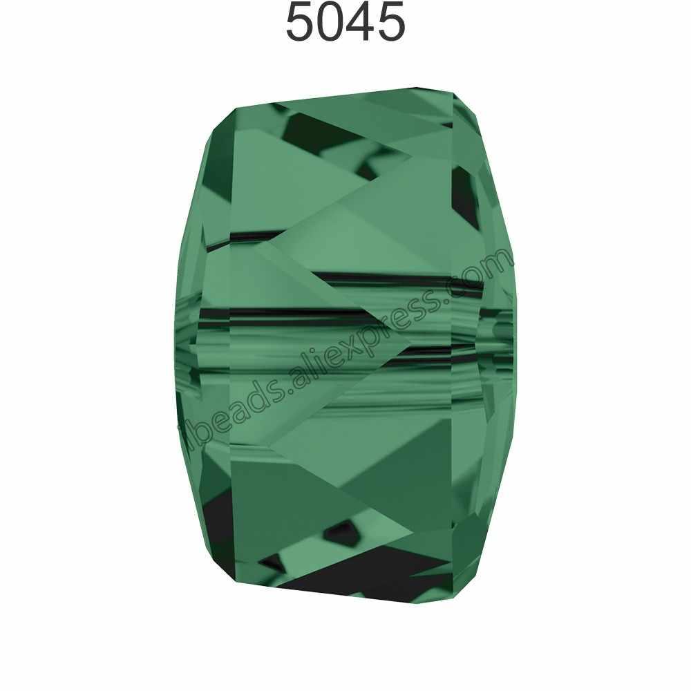 (1 個) 100% オリジナルクリスタルから 5045 ロンデルビーズ製オーストリアルースビーズラインストーン diy のジュエリーメイキングのため