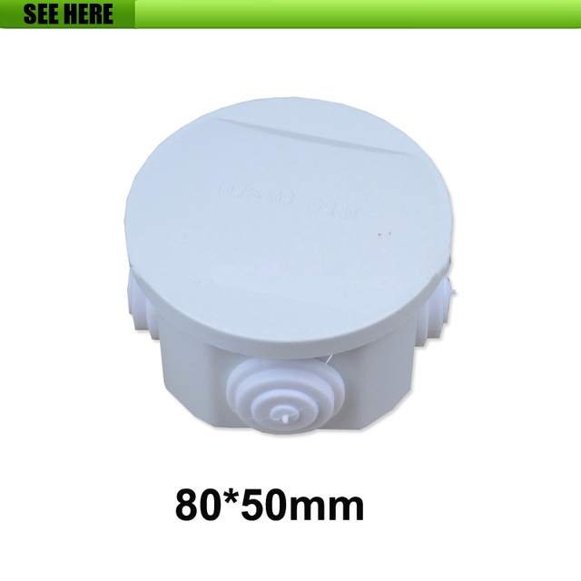 80 50mm Round Shape Ip65 Indoor Outdoor Waterproof Electrical Switch